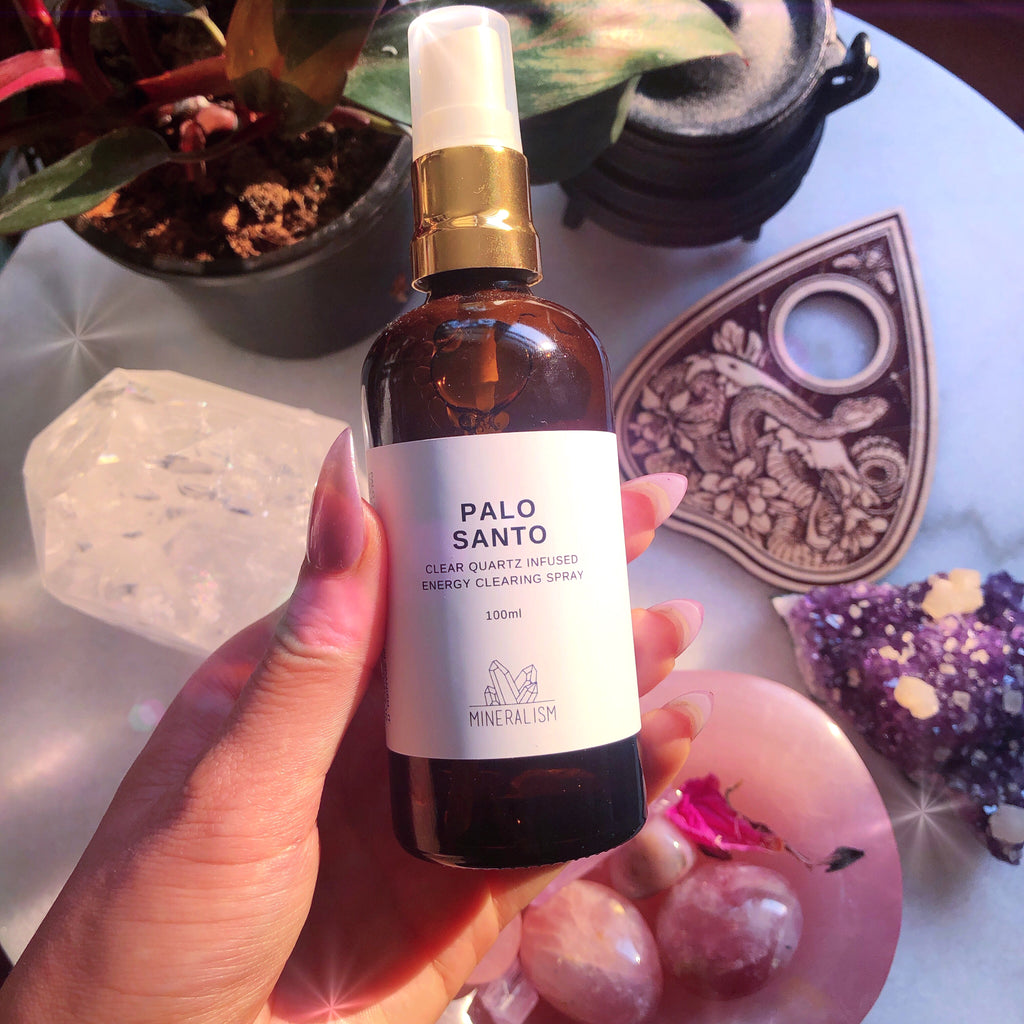 Palo Santo Clear Quartz Cleansing Spray