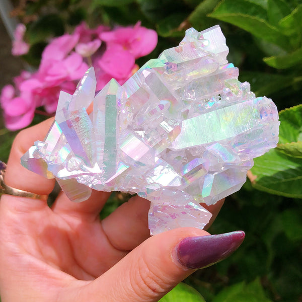Angel Aura Fairy Quartz Cluster #1