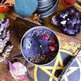 MYSTIC UNICORN Witch's Besom Crystal Candle