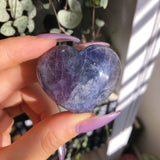 Fluorite heart crystal