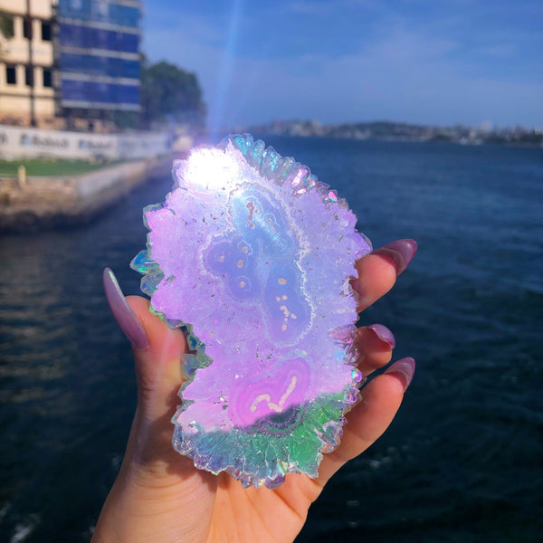 Angel Aura Amethyst Twin Stalactite Crystal #1