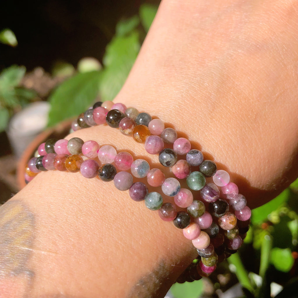 Mixed Tourmaline crystal bracelet