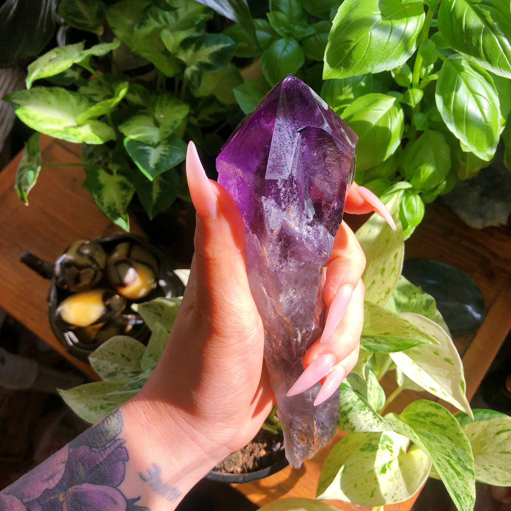Raw Amethyst Quartz Tooth Point #1