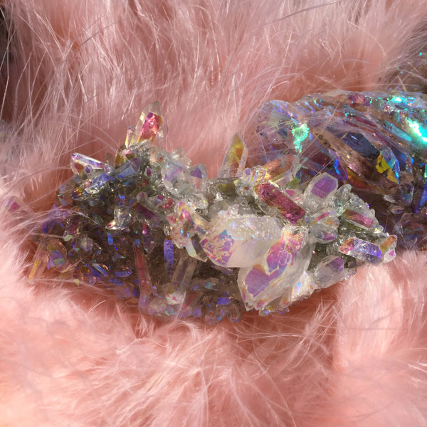Angel Aura Quartz Crystal Cluster #1