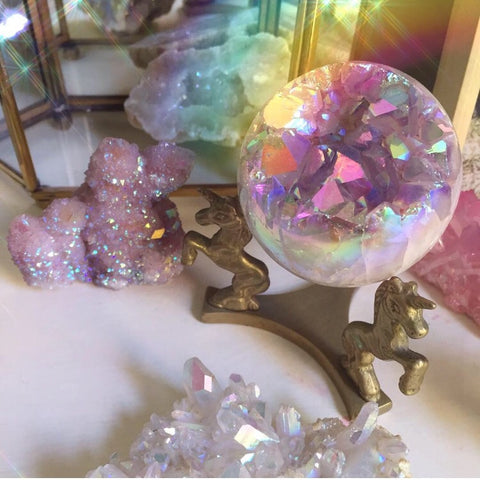 VINTAGE UNICORN CRYSTAL BALL STAND #2
