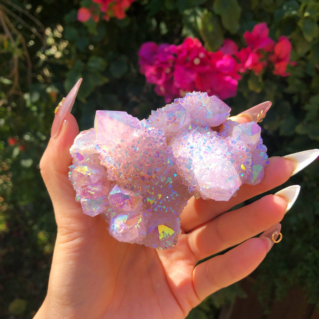 Lavender Angel Aura Spirit Quartz Large Cluster #1