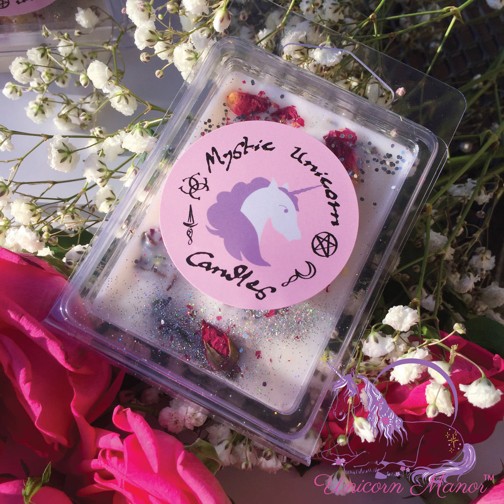 Mystic Unicorn Love Spell Rose Crystal Wax Melt