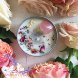 MYSTIC UNICORN Love Spell Rose Crystal Candle