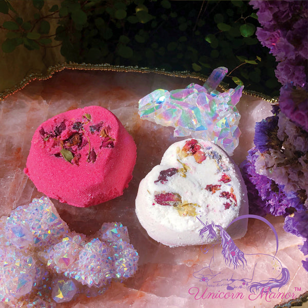MYSTIC UNICORN Love Spell Rose Bath Bomb