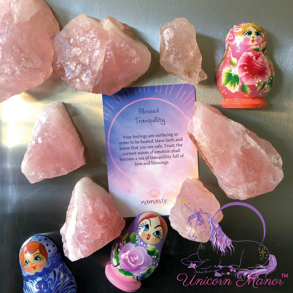 Rose Quartz Crystal Magnet