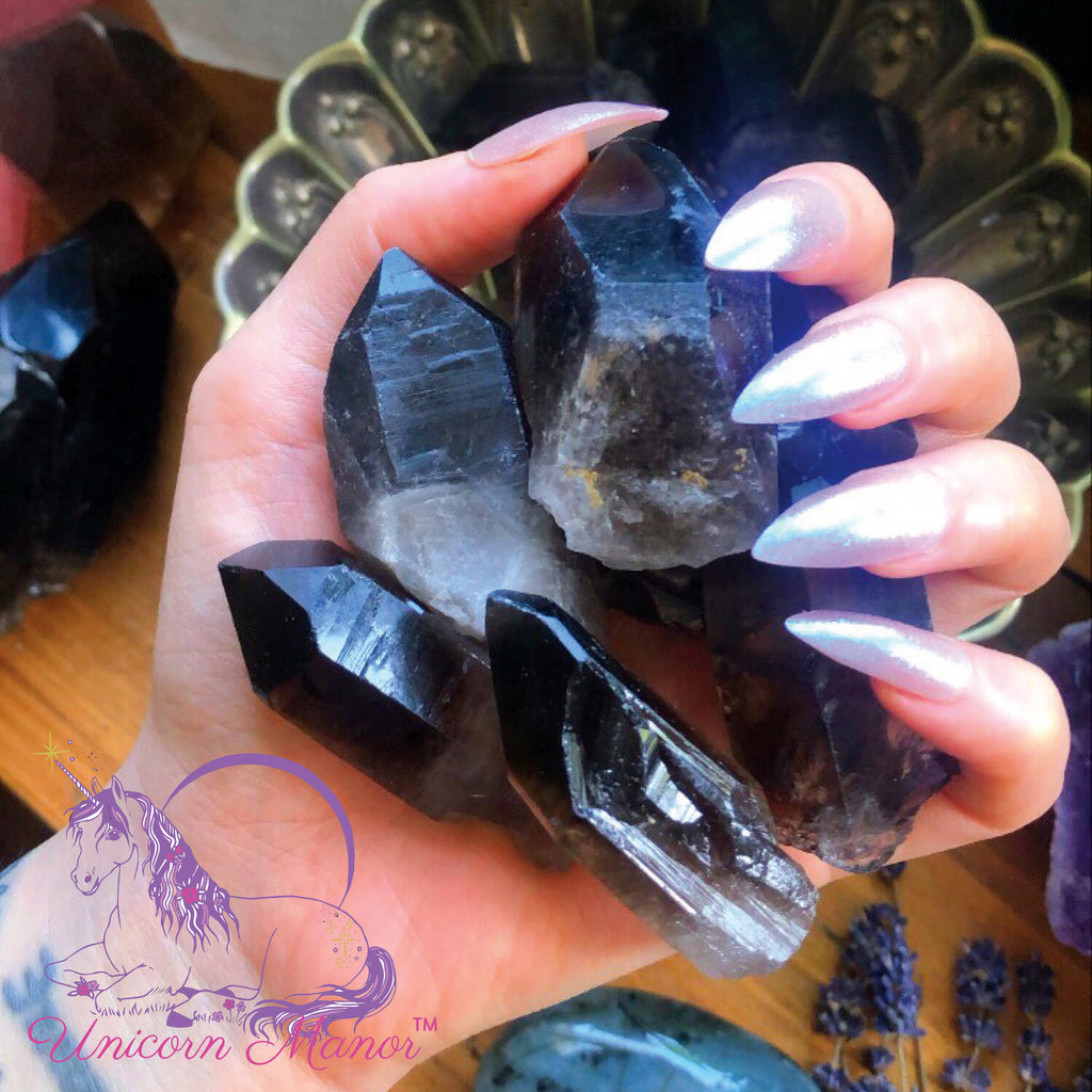 Black Smoky Quartz Point