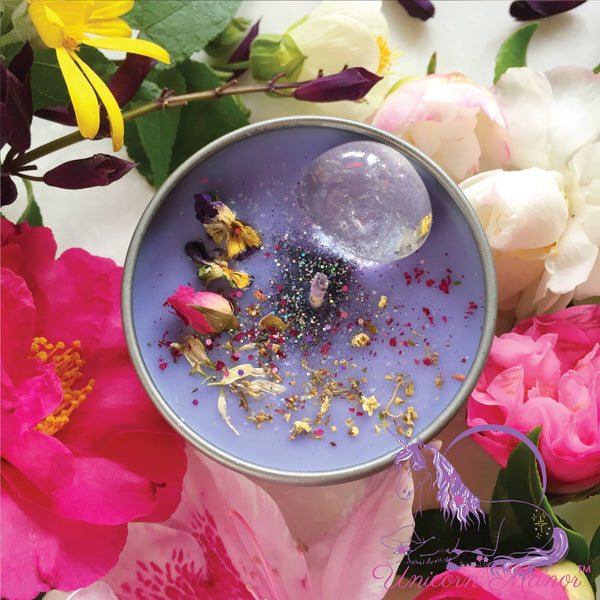 MYSTIC UNICORN Sweet Ambrosia Crystal Candle