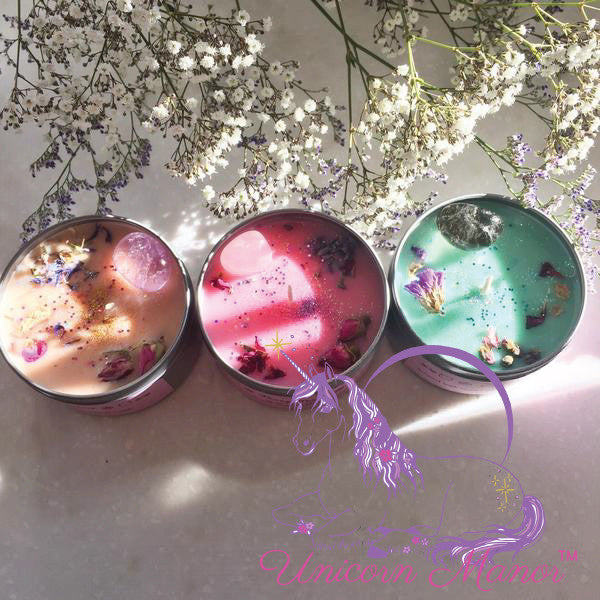 MYSTIC UNICORN TRIQUETRA CRYSTAL CANDLE BUNDLE SET