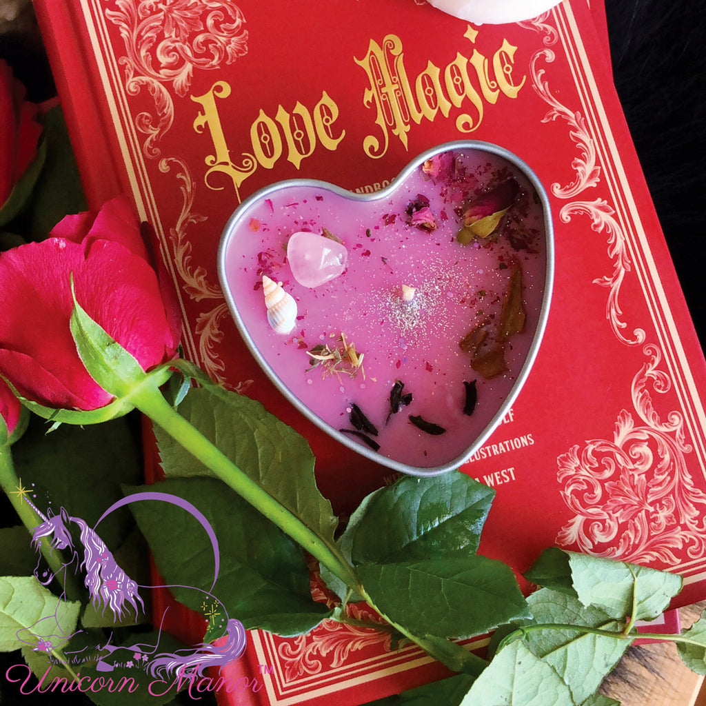 Mystic Unicorn Venus Love Crystal Candle