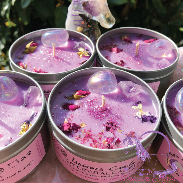 MYSTIC UNICORN Unicorn Candy Faerie Floss Crystal Candle