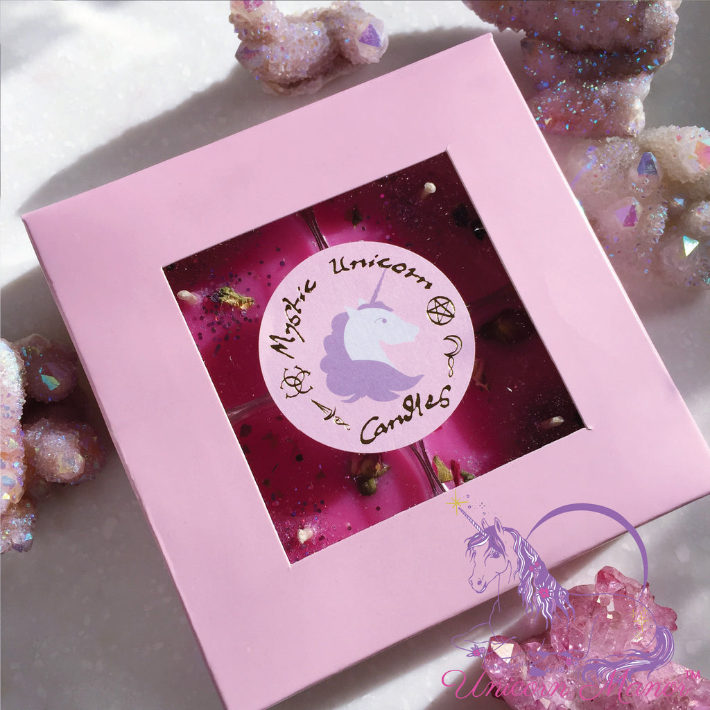 Mystic Unicorn Unicorn Candy Faerie Floss Maxi Tea Light Candle Set