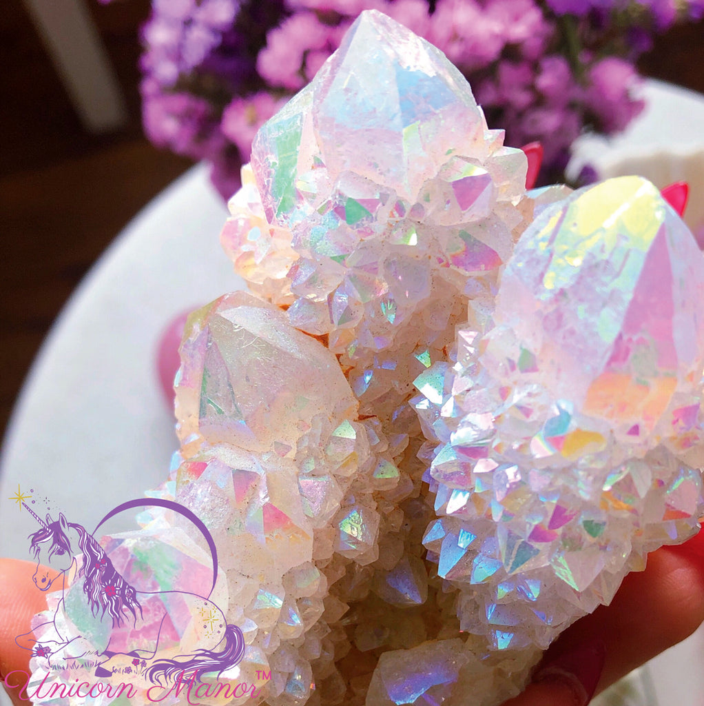 Angel Aura Spirit Quartz Large Cluster #2