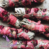 White Sage & Rose Smudge Stick