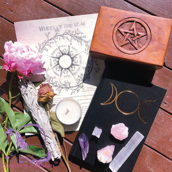 Witch's Box Triple Goddess Pentagram Crystal Set #2