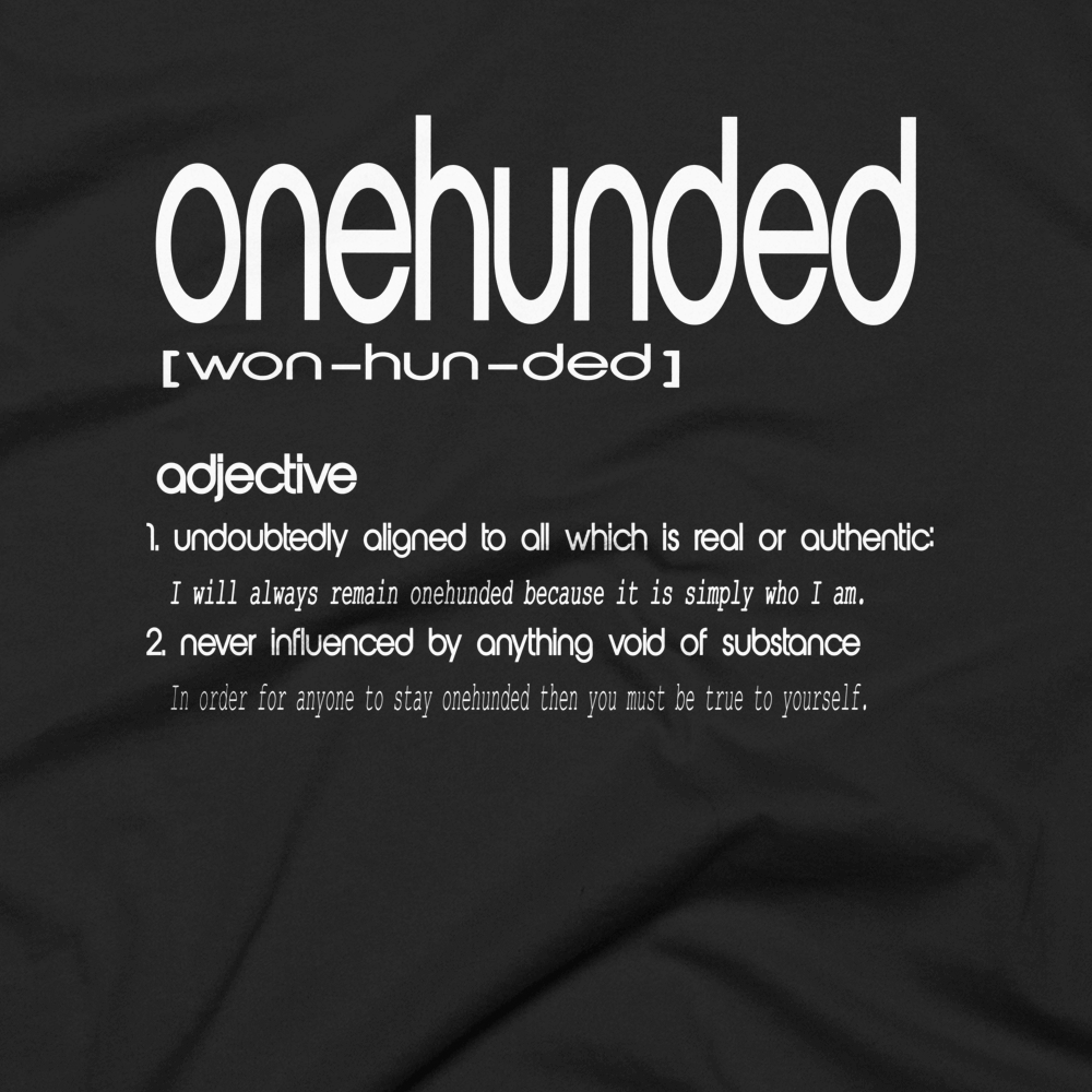 The Onehunded Tee: Dictionary Edition Series