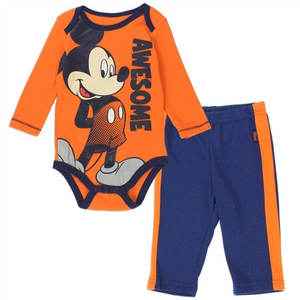 Mickey Mouse Romper Long Sleeve Jersey Top and Sweatpants