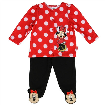 Minnie Mouse  Polka Dot Fleece Jacket and Pants with Bows