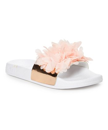 Bebe Chiffon  Flower Sandals