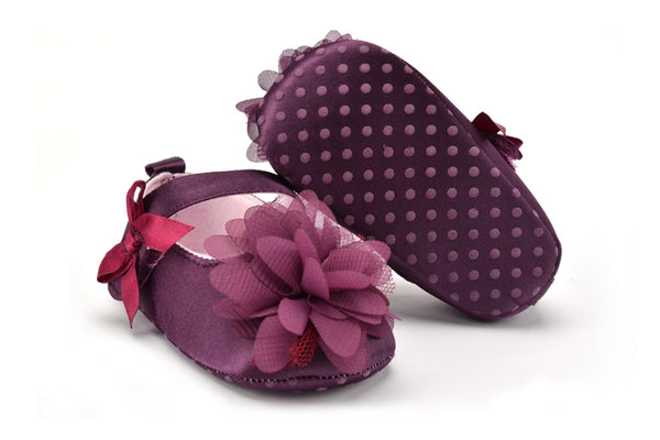Infant First Walker Purple Flower Shoes