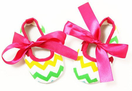 Chevron Multi-Color Crib Shoes