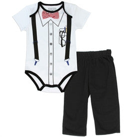 Pure One Newborn Boys 2 Piece Creeper/Pants Outfit/Free Shipping