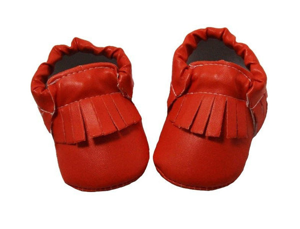 Red Fringe Moccassins