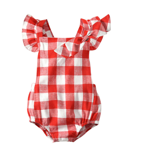 Checkered Romper and Headband