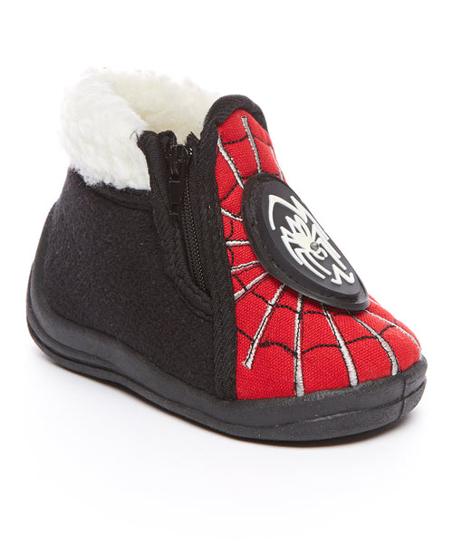 Black and Red Spider Fur Boots