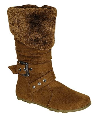 Tan Fold Down Boot