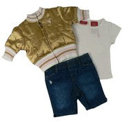 US Polo Infant Girl Capri Set