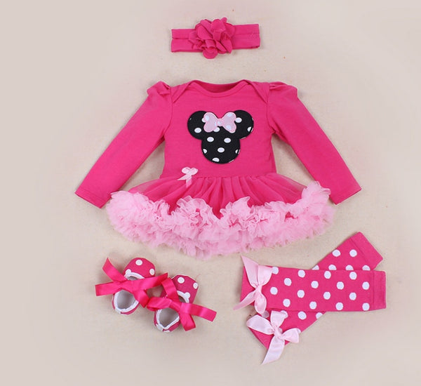 Minnie Mouse  Tutu Skirt+Headband+Shoes+Socks