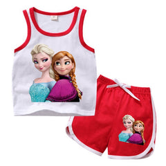 ELSA and ANNA  T-SHIRT and SHORTS