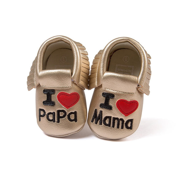 Baby Heart Style Trendy Soft Sole Moccasins