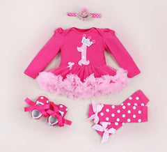 1st Birthday  Bodysuit Tutu Party Dresses