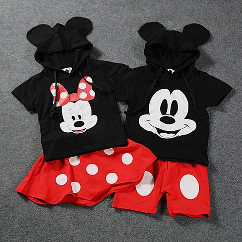 Minnie Mouse and Mickey Mouse Polka Dot Outfits