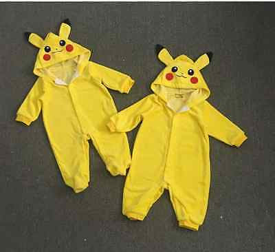 Pokemon Go Team  Baby Boy  or Girl Pikachu Jumpsuit Romper