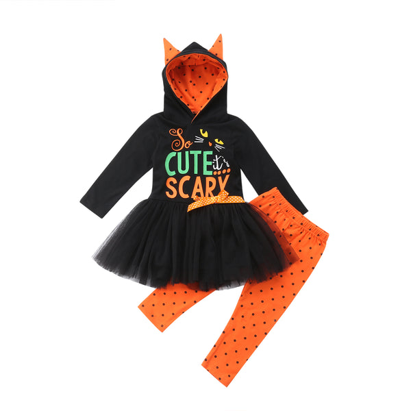 Cute Scary Halloween Tutu Dress Costume