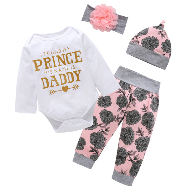 I Found My Prince  Floral 4 Piece Outfit