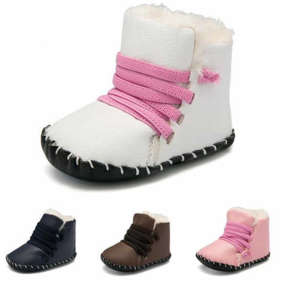 Baby Fur Lined Lace-Up Boots