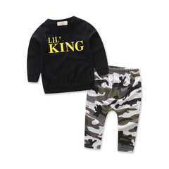 Little King Black Camouflage Toddler Outfit