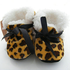 Leopard Zebra Dot Soft  Fleece Shoes