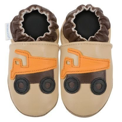 Truck Genuine Leather Brown Tone Moccasins
