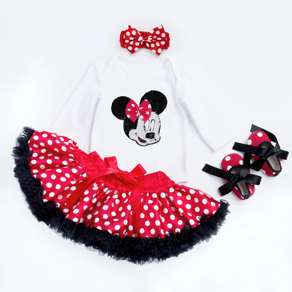 Minnie Mouse Romper /Tutu Skirt /Headband /Shoes