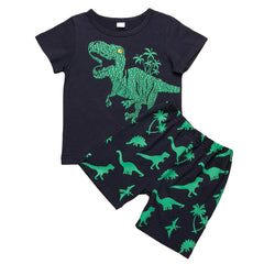 Dinosaur  Green T-Shirt/Shorts