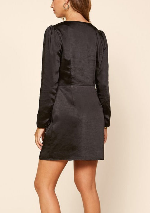 KIERA RUFFLE WRAP DRESS